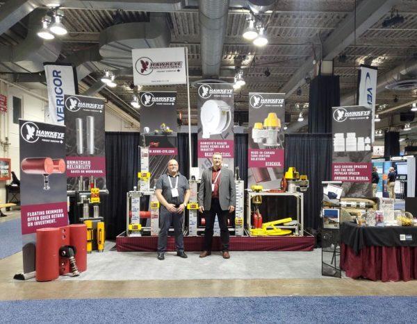 Hawkeye sales team at GPS tradeshow 2019
